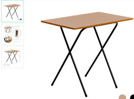 New foldaway table. Oak effect metal legs.