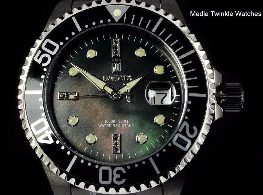 $169.00 - Invicta Men's 47mm JT Grand Diver Limited Edition Automatic Black Diamond Watch