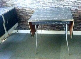Vintage retro mid century fold down table.