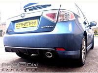 Subaru Impreza with Proflow Stainless Steel Exhaust Cat- Back with Flex