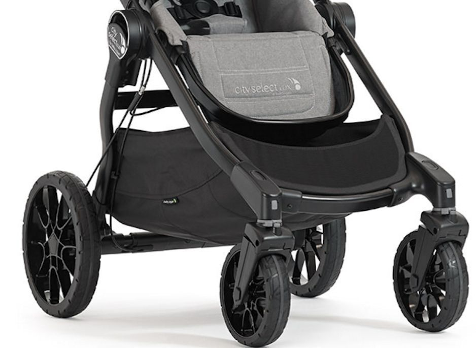 Купить Baby Jogger City Select Lux - Baby Jogger City Select Lux Twin Tandem Double Stroller with Second Seat Slate