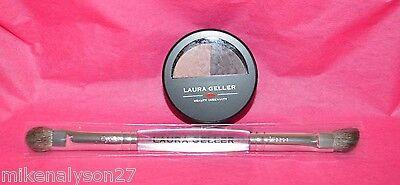 Laura Geller Baked Impressions eye shadow duo Fine wines Pink /Burgundy w/ brush (Eyes Shadow Duo)