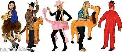 Tier Kostüm Rotes Rot Pferd Overall Strauss Flamingo - Reittier Kostüm