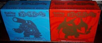 Pokemon XY Evolutions Elite Trainer Boxes l Blastoise & Charizard Lot NEW ETB
