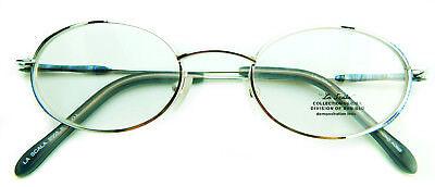 Vintage NOS La Scala Ben-Glo 47-19-135 Lilac Silver Eyeglass Frames Hong Kong
