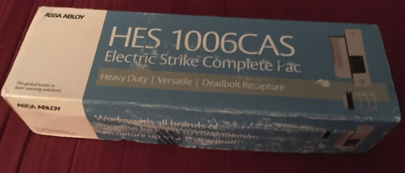 HES 1006CAS 630 Electric Strike Complete Pac New - Opened Box/Never Used