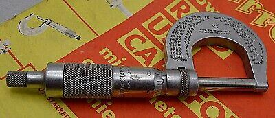 Vintage Browne Sharpe No.12 Outside Micrometer 0 To 1 Providence Ri Nice