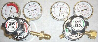Harris Model 25gx Oxygen Acetylene Or Lp Regulator Set Heavy Duty Cga 510