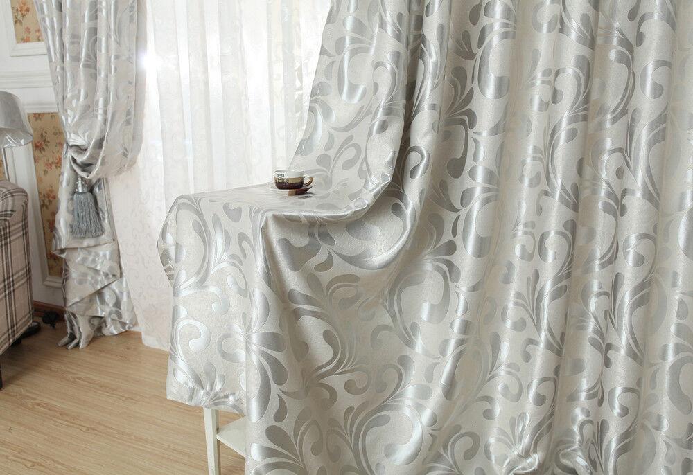 quality blockout eyelet curtains gold silver grey beige cream ebay. Black Bedroom Furniture Sets. Home Design Ideas