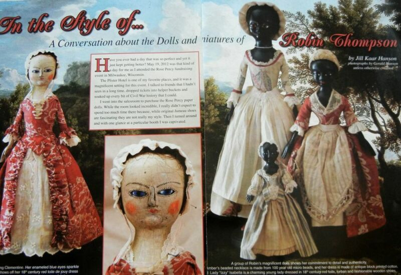 14p History Article - Queen Anne Dolls & Miniatures of Robin Thompson
