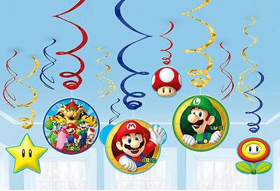 Super Mario-Brüder Wirbel Wandbehang Kinder Partydekorationen Hell Bunt ()