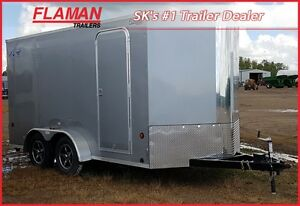 Southland 7' x 14 + 2' V-nose Cargo Trailer - Double Door model!