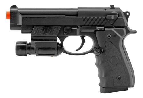 AIRSOFT SPRING HAND GUN PISTOL G52R w/ BBs FULL SIZE M9 BERETTA BLACK 6mm BB
