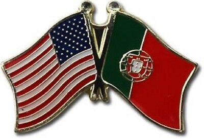 Wholesale Pack of 50 USA American Portugal Friendship Flag Hat Cap lapel Pin