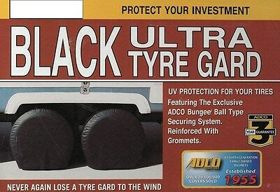 "Big Rig Tire Covers RV Tire Savers Motorhome Bus Tires Cover Pair Black 43""-45"""