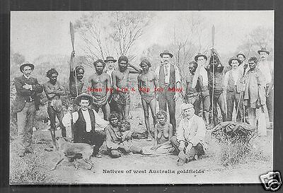 Aboriginals Goldfields Mining WA Western Australia ca 1899