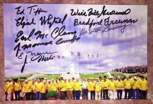 Band Of Brothers 101 AB 506 PIR E Co Autographed Photo w/9 Autos ALL DECEASED!!