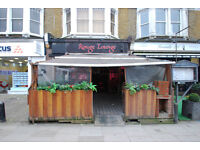 Busy A3 unit in West Hampstead NW6 with high footfall and forecourt for table and chairs