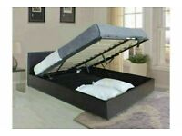 🔵💖🔴ALL SIZES AVAILABLE🔵💖🔴OTTOMAN GAS LIFT UP DOUBLE BED FRAME WITH MATTRESS OPTION