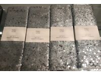8 BN M&S SEQUIN SILVER PLACEMATS