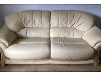 TWO AND THREE SEATER LEATHER SETTEES
