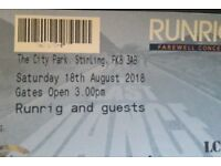 Runrig - The Last Dance Farewell Concert Camping Weekend Tickets x2 *SOLD OUT*