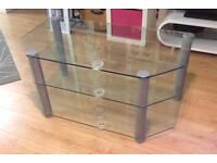 Large TV Stand - Glass shelves