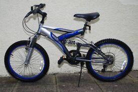 Bicycle - Zinc 20 inch dual suspension 6 gears