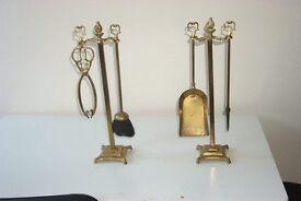Brass companion set c1920'c