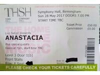 2 x Anastacia Tickets Bham Symphony - 28th May