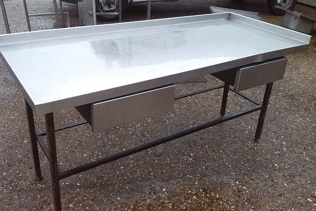 Stainless Steel Table.Catering Equipment,Work Bench 185cm X 78cm Height:88 cm