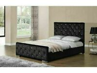 🔵💖🔴TOP QUALITY PRODUCTS🔵💖🔴CRUSH VELVET CHESTERFIELD DOUBLE-KING SIZE BED & MATTRESS RANGE
