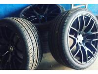 """4 x 22"""" alloy wheels with brand new tyres"""