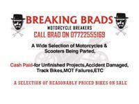 Breaking Brad, 1000's of used motorcycle parts