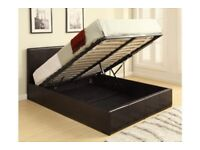 NEW KING SIZE Faux Leather Gas Lift Ottoman Storage Bed