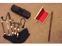 Super offer Black Watch tartan bagpipe & Irish D. Flute