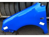 VW Polo PASSENGERS SIDE FRONT WING BLUE