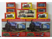 HORNBY 00 GAUGE CALEDONIAN BELLE TRAIN SETS + ENGINES & WAGGONS