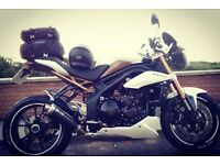 Imacualte triumph speed triple 1050 abs, 12 months mot.