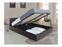 🪀Furniture free🪀DOUBLE AND KING SIZE LEATHER STORAGE BED FRAME WITH OPTIONAL MATTRESS-CALL NOW