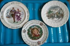 3 X decorative christmas plates