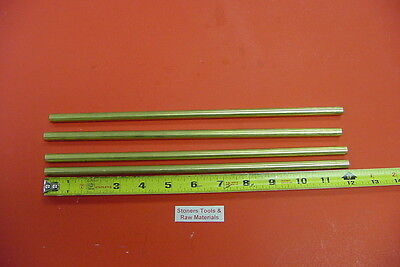 4 Pieces 38 C360 Brass Solid Round Rod 12 Long New Lathe Bar Stock .375