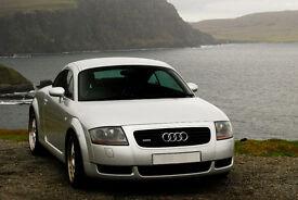 "Audi TT 1.8 Coupe Quattro 225 BHP - low mileage, excellent condition - silver, 18"" alloys £3980"