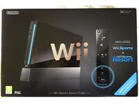 Nintendo Wii Sports Resort pack (Black console) + Wii Fit Plus