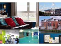 Short Term Let; Beautiful One Bed Apartment on the River. Pool, Gym and More. Ten Mins to Stadium.