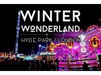 Jobs for Winter Wonderland at Hyde Park 2016