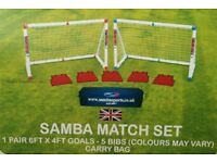 Brand New - Samba match goal 6ft x 4ft and accessories