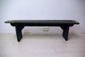 beautiful antique solid wood carved bench