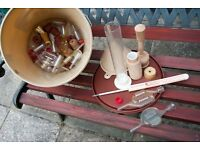 Various wine making / home brewing items and equipment - hydrometer , bubbler airlocks , fermenting
