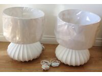 Brand New white ceramic lamp bases and lamp shades